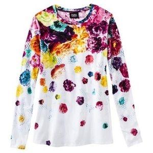 XL Prabal Gurung x Target Multi Floral Jersey top
